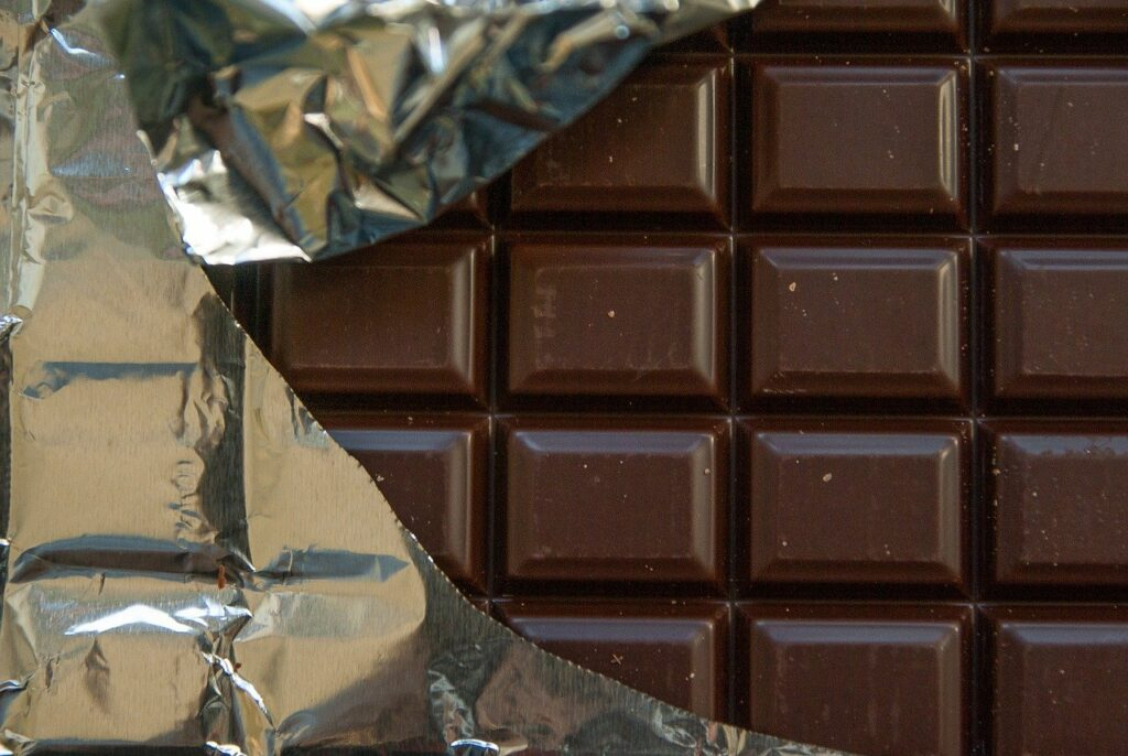 chocolate, dark chocolate, tablet
